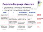 common language structure