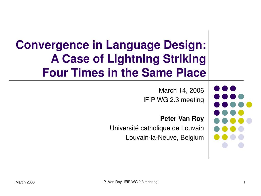 convergence in language design a case of lightning striking four times in the same place l.