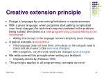 creative extension principle
