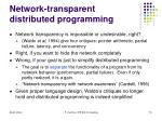 network transparent distributed programming15