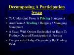 decomposing a participation swap