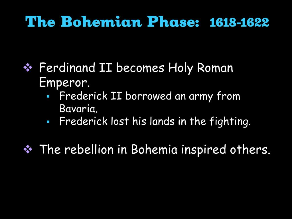 The Bohemian Phase: