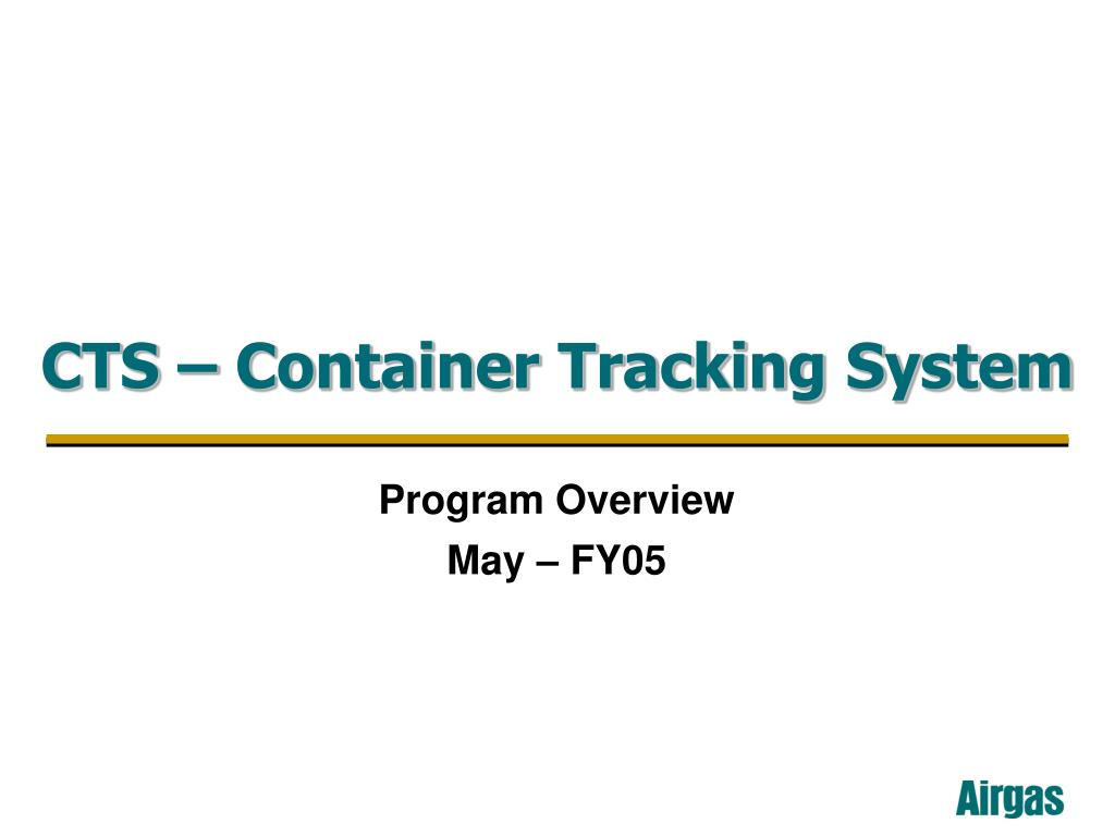 cts container tracking system l.