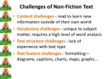 challenges of non fiction text