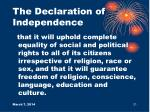 the declaration of independence21