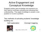 active engagement and conceptual knowledge