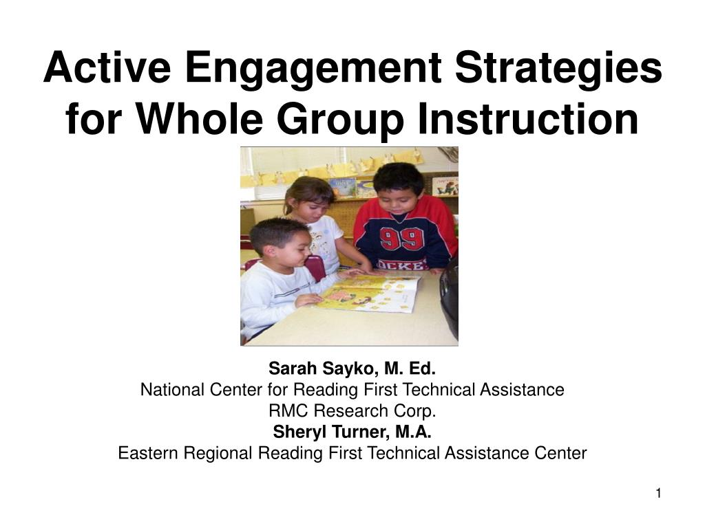 active engagement strategies for whole group instruction l.