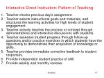 interactive direct instruction pattern of teaching