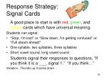 response strategy signal cards