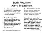 study results on active engagement