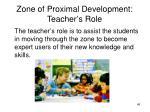 zone of proximal development teacher s role