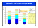 improved co emission inventory for china