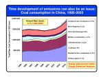 time development of emissions can also be an issue coal consumption in china 1995 2003