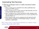 automating test services