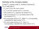 definition of the contains relation