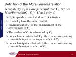 definition of the morepowerful relation