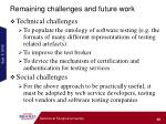 remaining challenges and future work