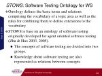 stows software testing ontology for ws