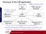 structure of the cib application