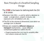 basic principles of a stratified sampling design