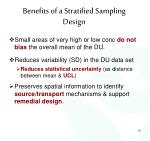 benefits of a stratified sampling design