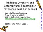 religious diversity and intercultural education a reference book for schools
