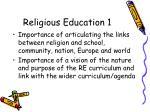 religious education 1