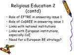 religious education 2 contd