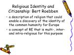 religious identity and citizenship bert roebben