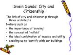 svein sando city and citizenship