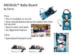medkids baby board by ferno