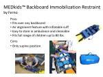 medkids backboard immobilization restraint by ferno