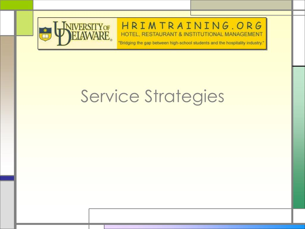 service strategies l.