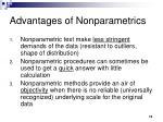 advantages of nonparametrics