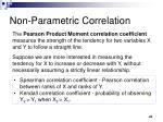 non parametric correlation