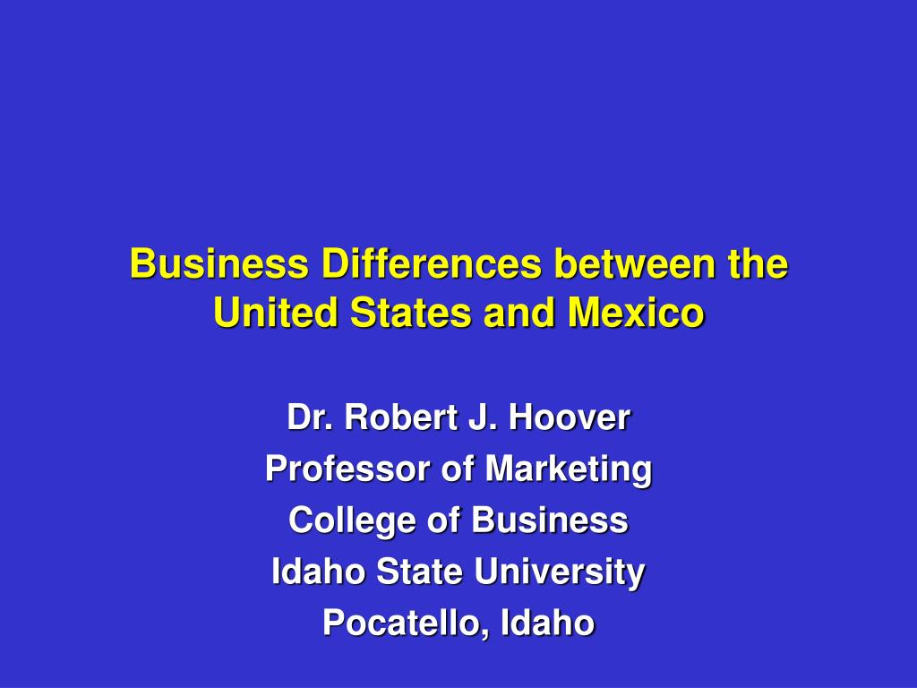business differences between the united states and mexico l.