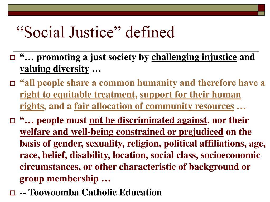 """Social Justice"" defined"