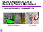 cache efficient layouts of bounding volume hierarchies