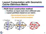 layout computation with geometric cache oblivious metric