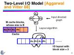 two level i o model aggarwal and vitter 88