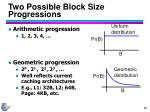 two possible block size progressions60
