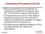 combustion processes cont d