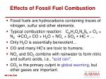 effects of fossil fuel combustion