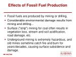 effects of fossil fuel production