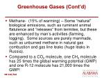 greenhouse gases cont d
