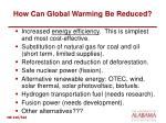 how can global warming be reduced