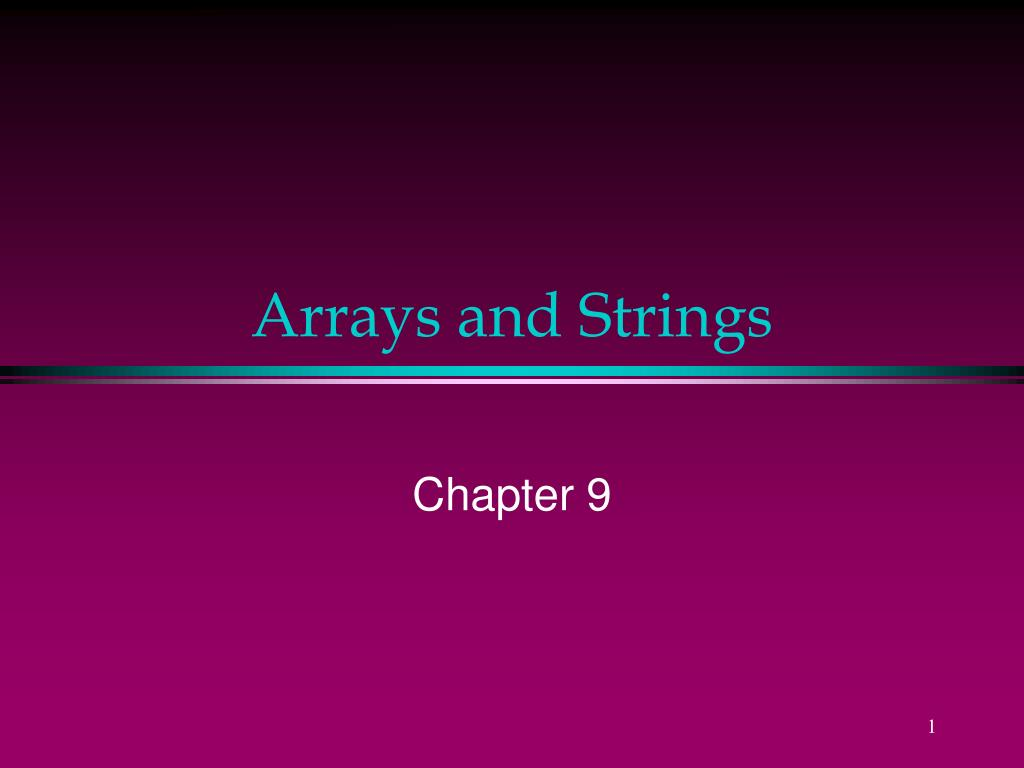 arrays and strings l.