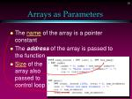 arrays as parameters19