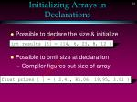 initializing arrays in declarations