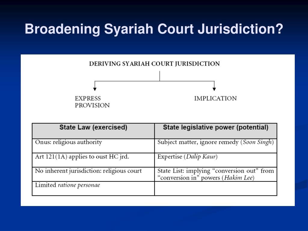 Broadening Syariah Court Jurisdiction?